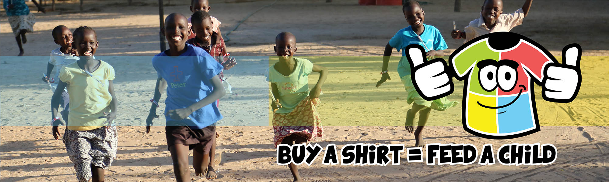Charity Partnership with SERV: Buy a shirt = feed a child